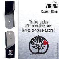 Lame tondeuse. Coupe 16,8 cm. Stiga, Viking. Par 2