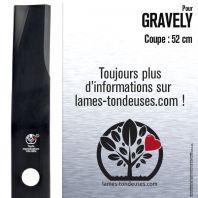 Lame pour Gravely  9212P2. 200347. 20034751. Coupe 52 cm