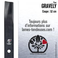 Lame pour Gravely  25124. 89046. 8904651. Coupe 52 cm