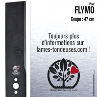 Lame pour Flymo 512 02 20-00. 512 02 20-03/2. 512 61 36-03/2. Coupe 47 cm