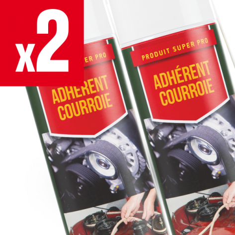 2 X adhérent courroies de tondeuse Shark Oil. 400 ml